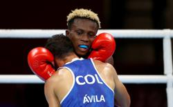 Olympics-Boxing-A French sit-in and Ghanaian medal in action-packed day