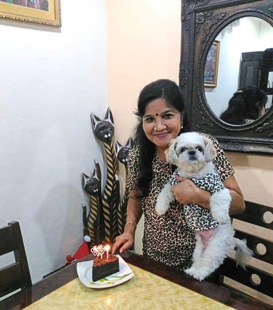 Lolita in matching outfits with 'mummy' on mummy's birthday. Photo: Sree Vaneesa Nagalingam