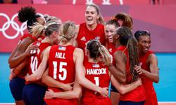 Olympics-Volleyball-U.S. beat Italy in full-set battle despite Thompson's absence