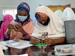Teenage girls in northern Nigeria open their minds with robotics