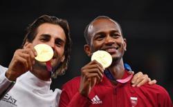 Olympics-Athletics-Barshim, Tamberi 'love-in' takes another leap on podium