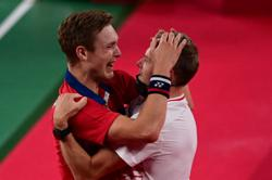 Axelsen in tears after ending Denmark's 25-year wait for Olympics gold