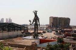 Memorial sculpture at Beirut port blast site draws mixed reviews