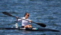 Olympics-Canoe sprint-Carrington sets new Olympic best en route to final