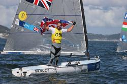 Olympics-Sailing-Scott rules the waves for Britain with final Finn gold medal