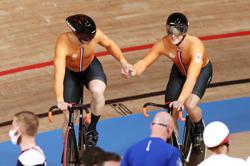 Olympics-Cycling-Netherlands end British stranglehold on men's team sprint