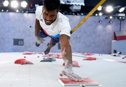 Olympics-Climbing-Frenchman Mawem tops speed event in thrilling Games debut