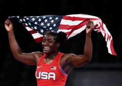 Olympics-Wrestling-Mensah-Stock wins women's freestyle light heavyweight gold medal