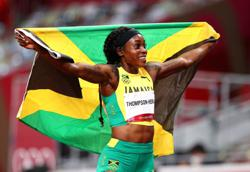 Olympics-Athletics-Thompson-Herah completes sprint double-double