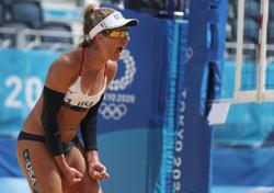 Olympics-Beach volleyball-American Ross becomes last woman standing with past medals