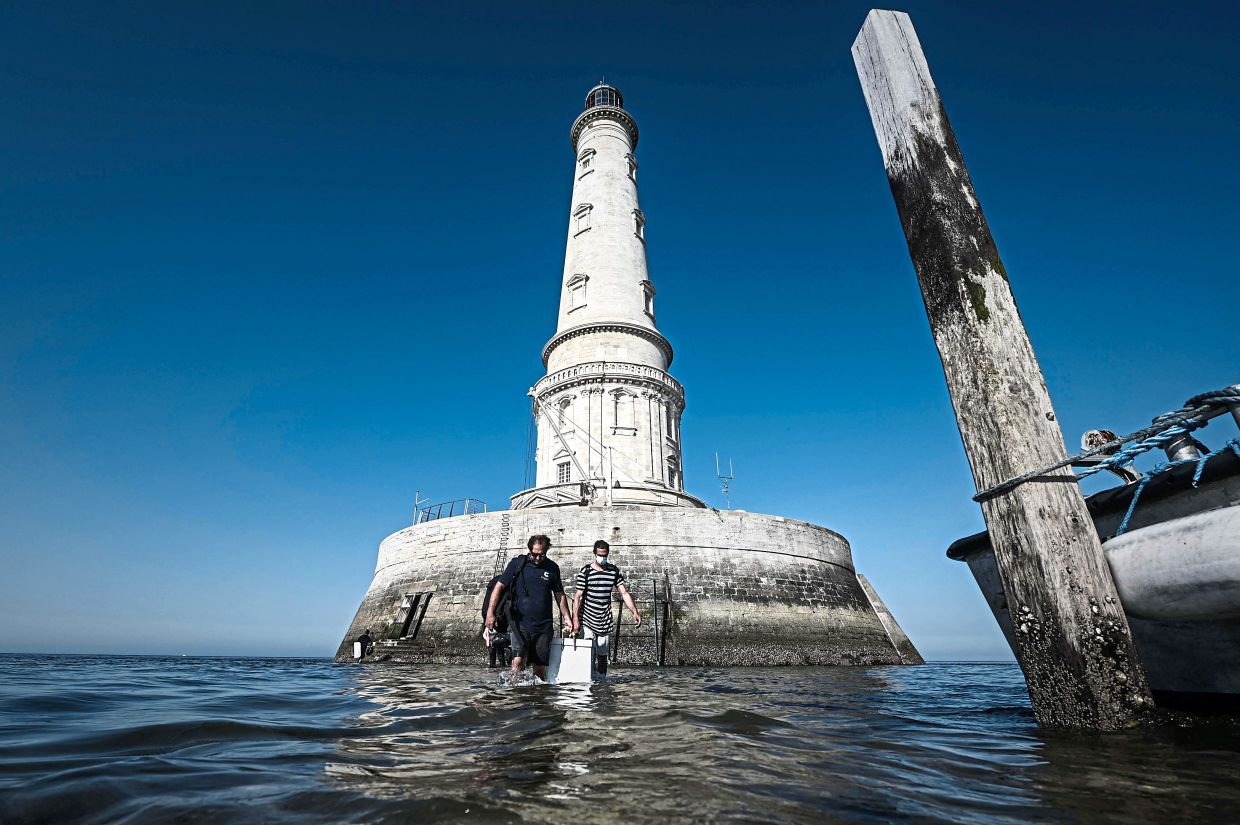 The Cordouan Lighthouse is located off the coast of Le Verdon-sur-Mer in France. — AFP
