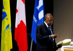 Soccer-Former FIFA interim president Hayatou banned for one year