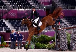 Olympics-Equestrian-Britain's Maher jumps to gold, Sweden win silver