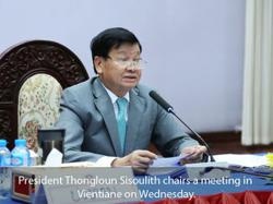 Lao president urges defence ministry to build strong, modern army