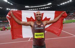 Olympics-Athletics-Canada's Warner breaks Games record on way to decathlon gold