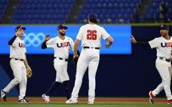 Olympics-Baseball-U.S. advances to golden game with Japan, South Korea to play for bronze vs Dominicans