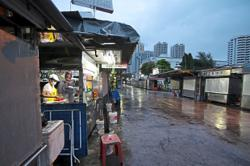 Hawkers find ways to stay afloat