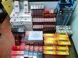 RM13,000 worth of contraband cigs seized in raid on Slim River house