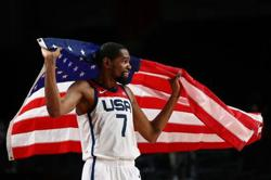 Olympics-Basketball-U.S. beat France to win 16th men's gold