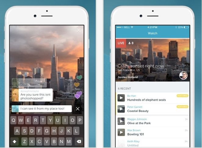 Periscope was launched as a livestreaming app. — Filepic