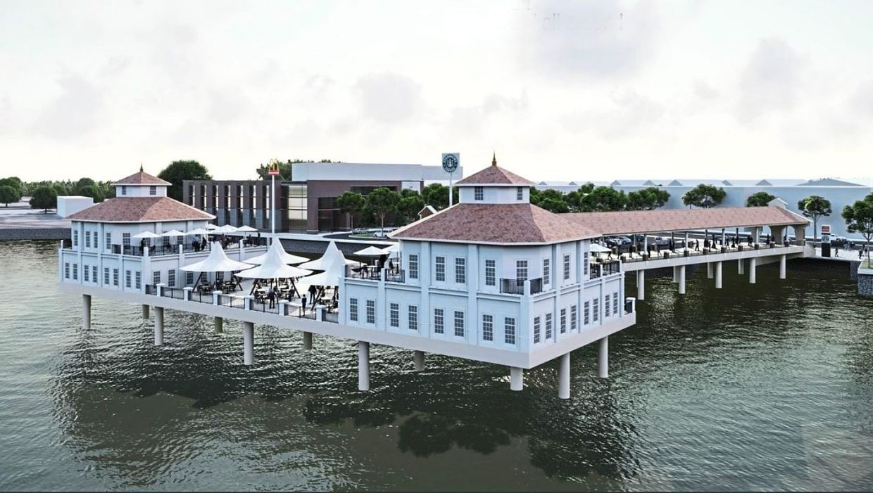 Artist impression of the 'MPDT 1880 Heritage Reborn' project in Penang Weld Quay Tanjung City Marina