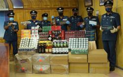 Perak Customs seizes RM1.65mil worth of contraband cigarettes, alcohol in three raids