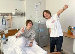 Japan's heroine Hirota in good spirits after long overdue surgery