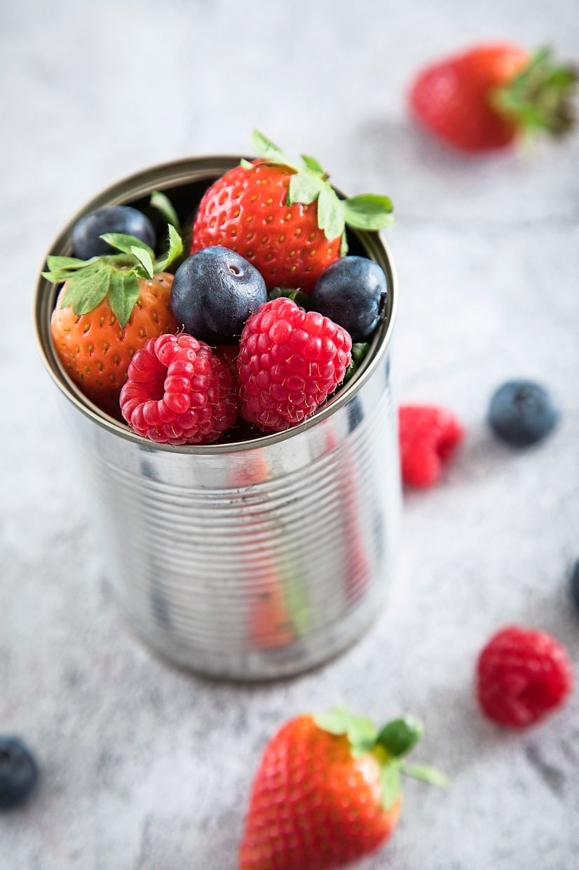 Berries are a good way to trick your brain into thinking you're getting a sweet snack without the high sugar content of chocolate, but with the added bonus of more vitamins and minerals.