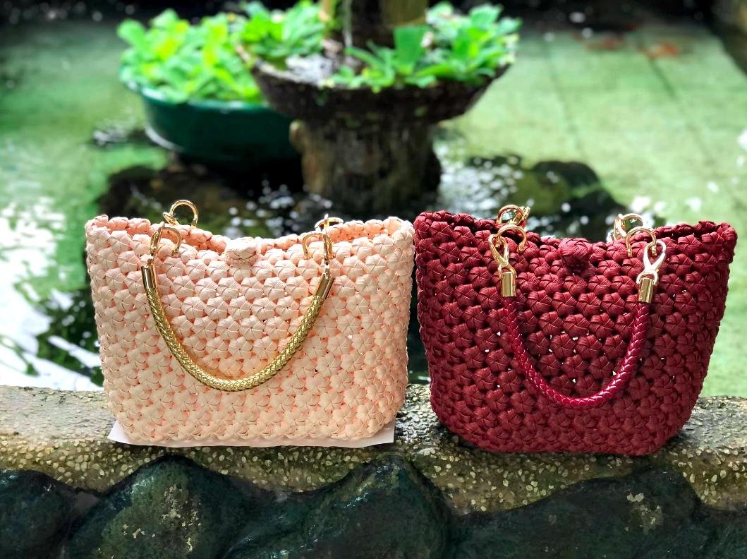 Despite the pandemic having impacted the economy, there are still people buying my handmade items through The Artisans Haven, in particular my Rose bag which uses a unique paper rattan weaving-style resulting in a rose pattern, says Caroline Jok Ngau from Miri, Sarawak. Photo: CaroPaya Handicraft