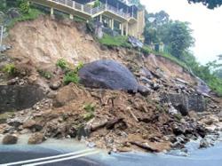 Landslide hits Balik Pulau following continuous rain