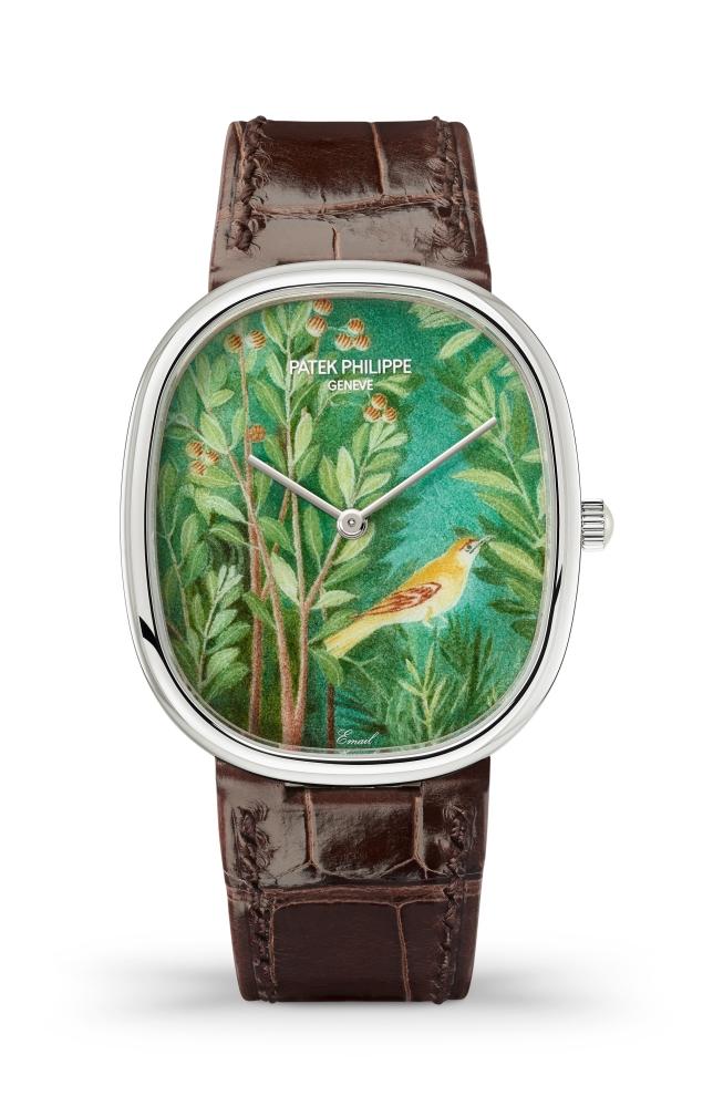 5738/50G-022 'Roman Garden' Golden Ellipse wristwatch.