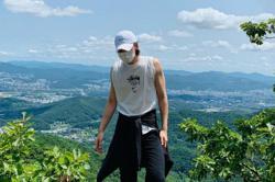 Korean actor Ji Chang-wook beats Covid-19, takes a hike