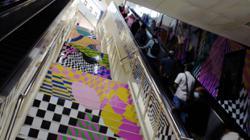 Watch: M'sian artist invites you to the 'trippy line' at KLs Masjid Jamek LRT