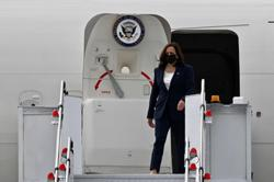 US Vice-President Kamala Harris arrives in Singapore