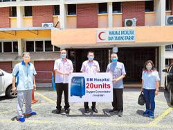 Party donates oxygen concentrators to hospital