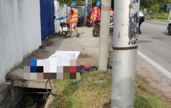 Teen motorcyclist dies after crashing into utility pole in Kepala Batas