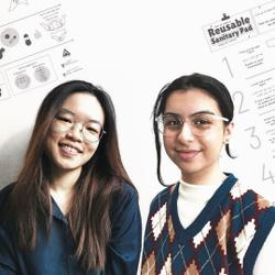 Design students create poster to address period poverty among refugees