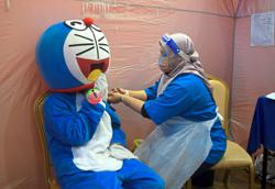 Don't worry, 'Doraemon' has been safely vaccinated