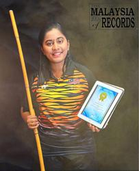 Malaysian coach's 14-hour online silambam class enters Malaysia Book of Records