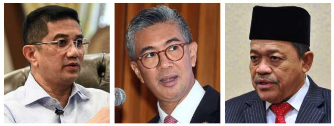 We've got this: (from left) Azmin, Tengku Zafrul and Shahidan said they are ready to roll up their sleeves for the people.