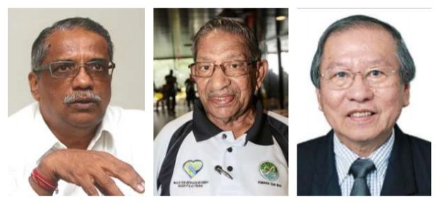 Brighter prospects ahead: Murugiah, Mohd Yussof and Khor have confidence in the country finding its way out of the crisis.