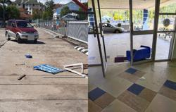 Couple crashes car into Ranau district police station