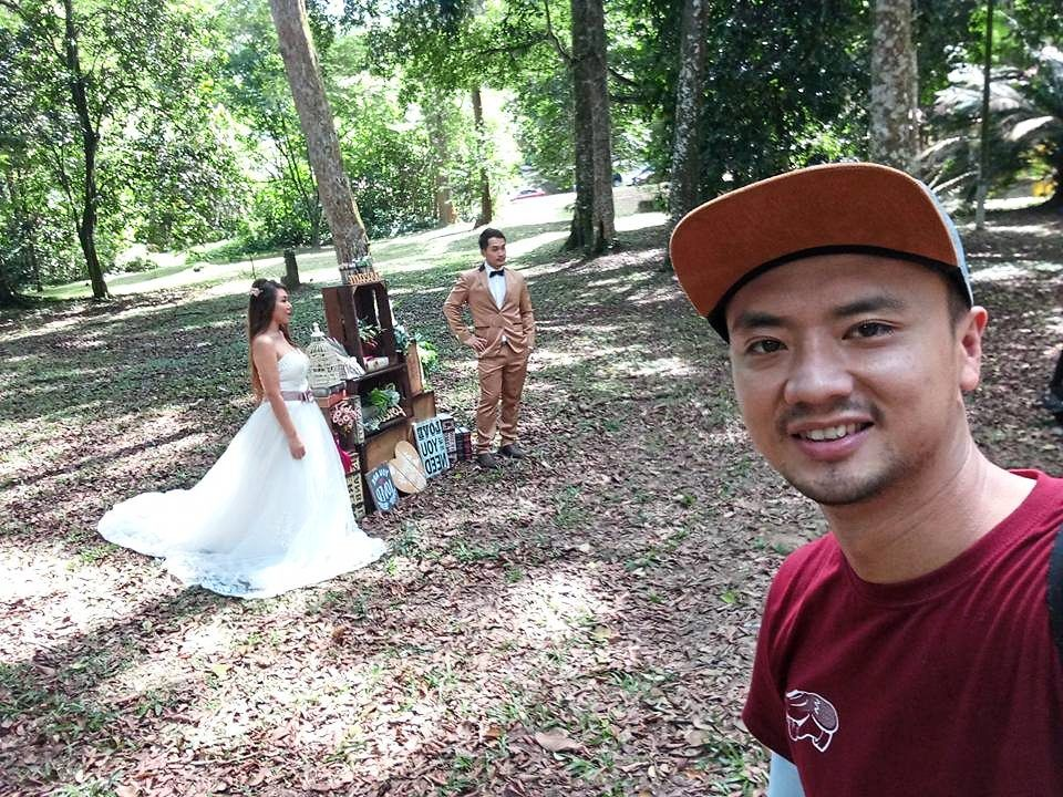 Kong at an outdoor shoot in the past. Wedding service providers have only been able to operate for a total of three months in the last one year, he says.