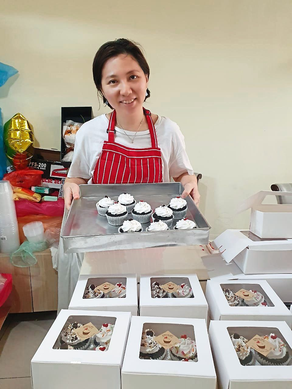 Chang has added homemade cupcakes to her list of online products.