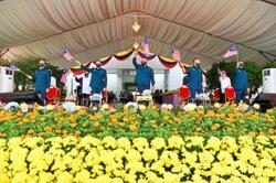 National Day spirit undampened