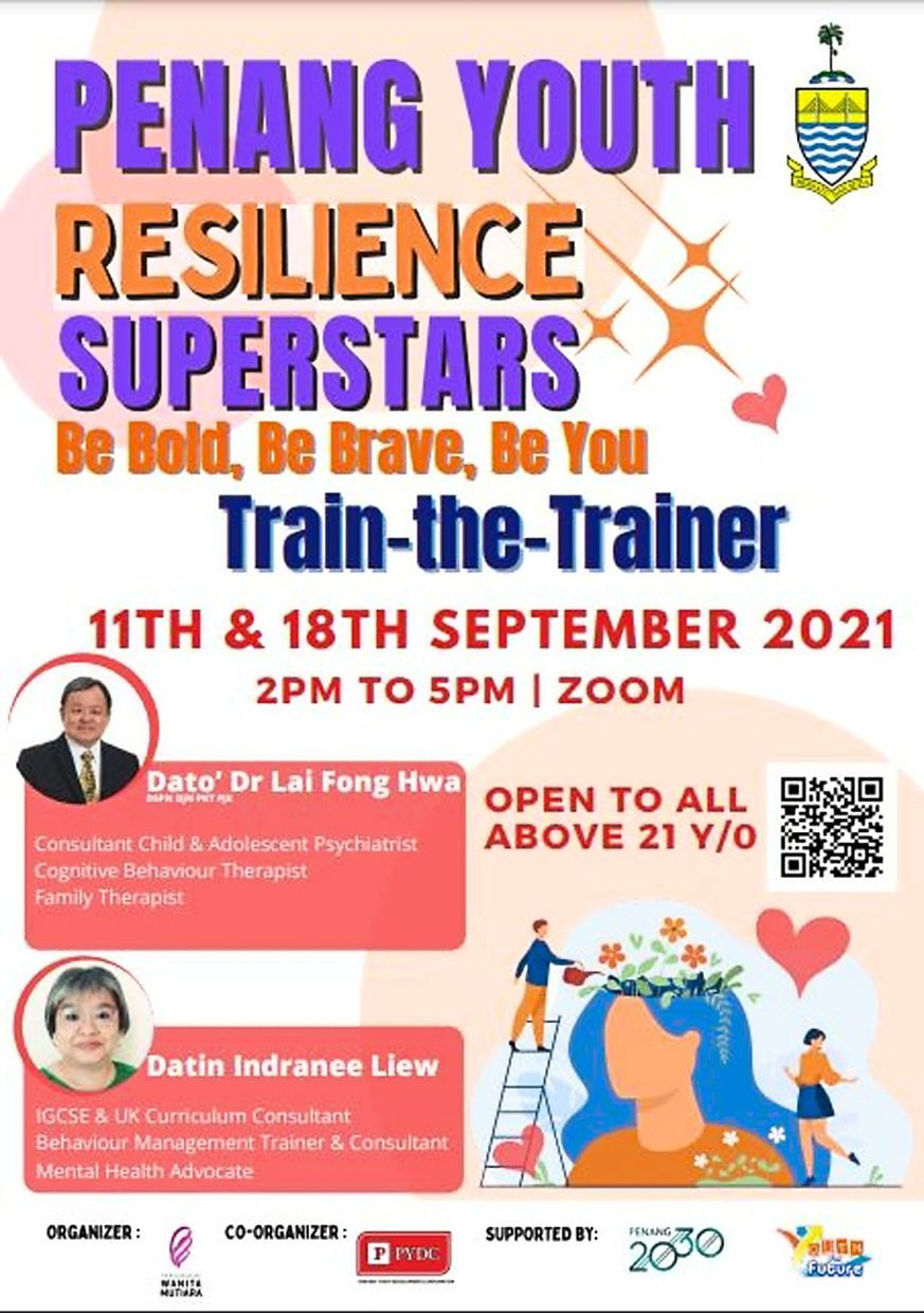The Penang Youth Resilience Superstars poster by PYDC.