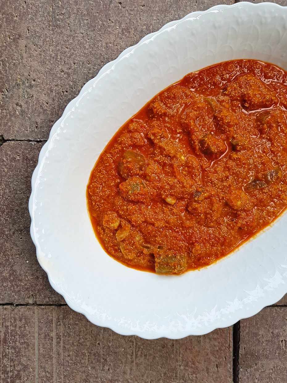Sambal telur belimbing is made up of the roe of ikan parang. Although other fish roe can be used, this will make the texture of the dish less appealing. —  ABIRAMI DURAI/The Star