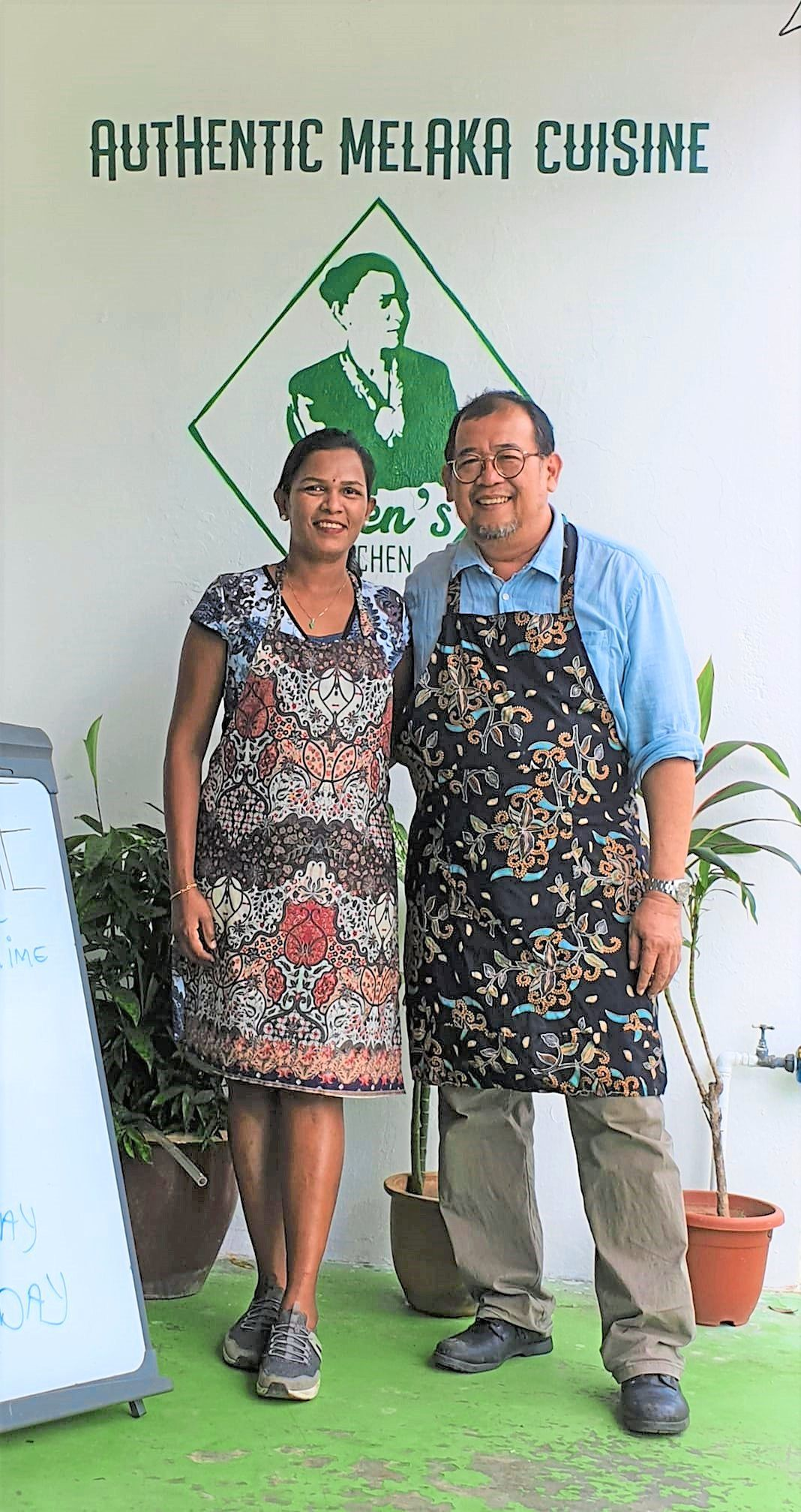 Wenila opened Wen's Kitchen, which serves Chetti food, in December with her business partner Bert Tan (right). — WENILA NADARAJAN