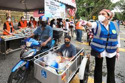 Mass distribution of aid to the needy