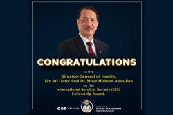 Dr Noor Hisham receives international surgical fellowship award